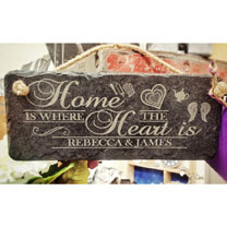 Personalised Slate Home Heart Sign