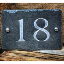 Personalised Rectangular House Number Sign - Silver