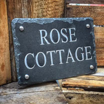Personalised Slate House Sign Small - White