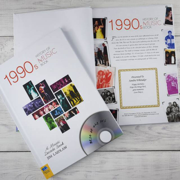 Personalised 1990s History of Music