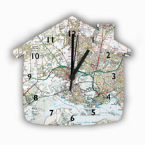 Personalised House Map Clock