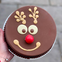 Personalised Reindeer Smash Cake