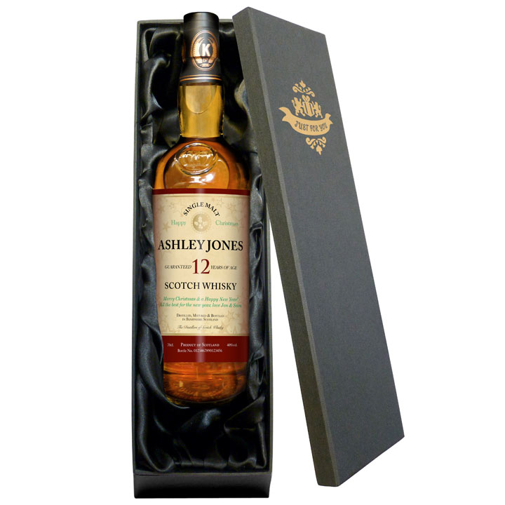 Personalised 12 Year Old Christmas Malt Whisky