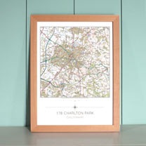 My Home Landranger Framed Map - Beech