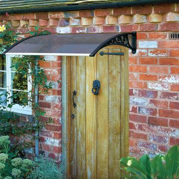 1.2M Door Canopy - Black Grey Cover 89f5b0d7788f