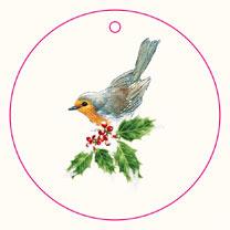Flat Wrap - Festive Robins