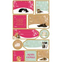 Cat Sticky Gift Labels