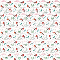 Christmas Robins Wrap