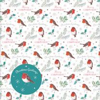 Christmas Robins Wrap