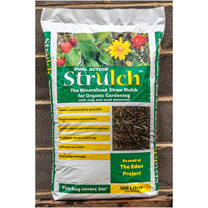 Strulch Mineralised Straw Mulch, an environmentally friendly alternative to peat in compost and a more efficient way of using wheat straw as mulch. La