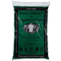 Wool Compost for Veg and Salads - 30 Litre Bag (2 Bags)