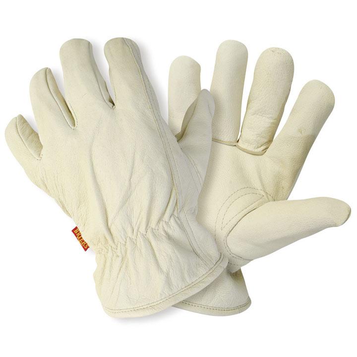 Lined Hide Gloves - Men's Large