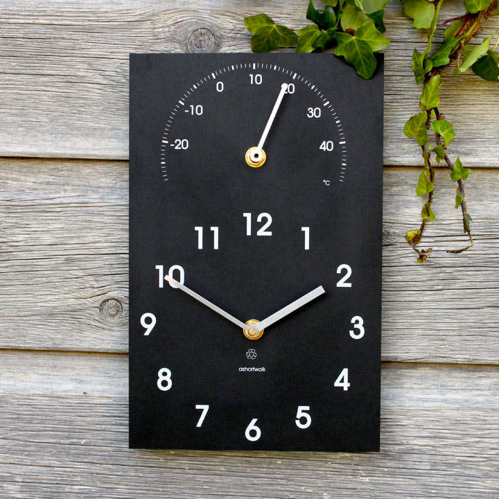 Recycled Clock - Time - Thermometer