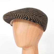 Head Gardener Hat - Black Pinstripe