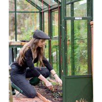 The Head Gardener Black Pinstripe Small Hat + Pinstripe Bag