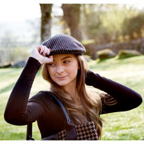 The Head Gardener Hat Black Pinstripe - Small