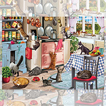 Cats in Kitchen Jigsaw