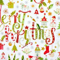 Christmas Script Roll Wrap