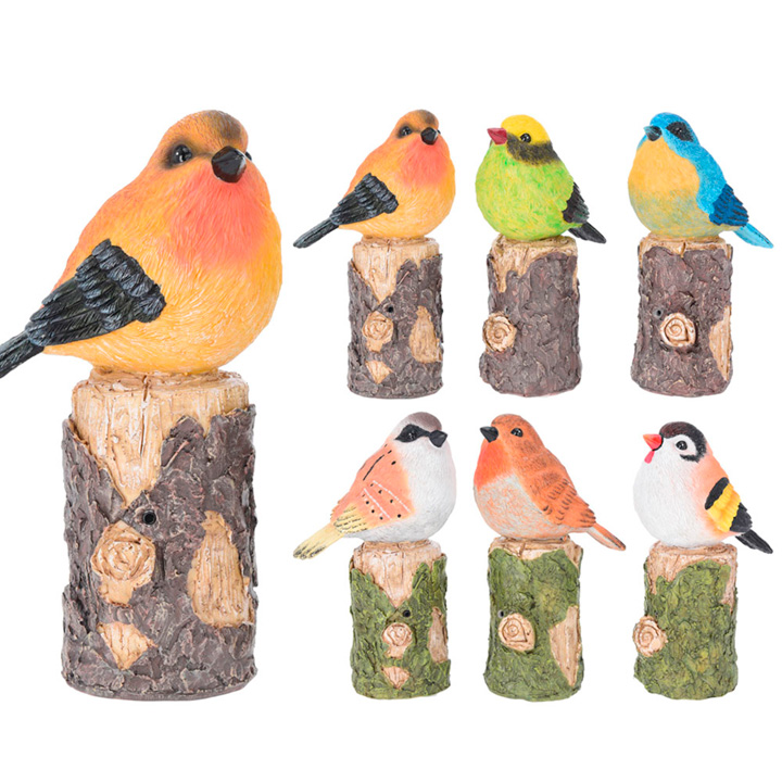 Bird on Tree Trunk