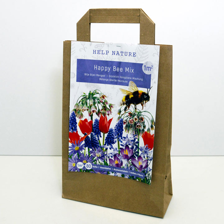 Happy Bee Flower Bulb Mixture in Paper Bag