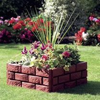 Brick Effect Garden Border - Terracotta