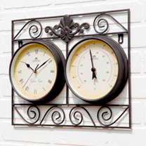 Wall Frame Clock/Thermometer
