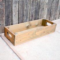 Crate 1 slat - 53 x 18 x 9cm Woodstain