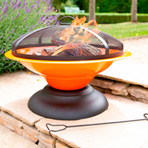 Moda Enamelled Firepit - Orange