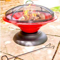 Moda Enamelled Firepit - Red
