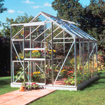Aluminium 86 Greenhouse + Base + 2 Tier Staging + Auto Vent