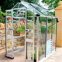 Eden Birdlip Greenhouse These space-saving greenhouses boast the same high quality spec as the Burford. 12 year frame guarantee! (Does not include sto