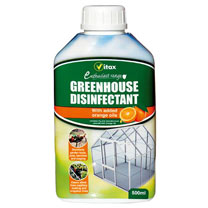 A concentrated cleaner and disinfectant for use in greenhouses, garages, utility rooms and outbuildings. Cleans ornamental pots, glass, work surfaces