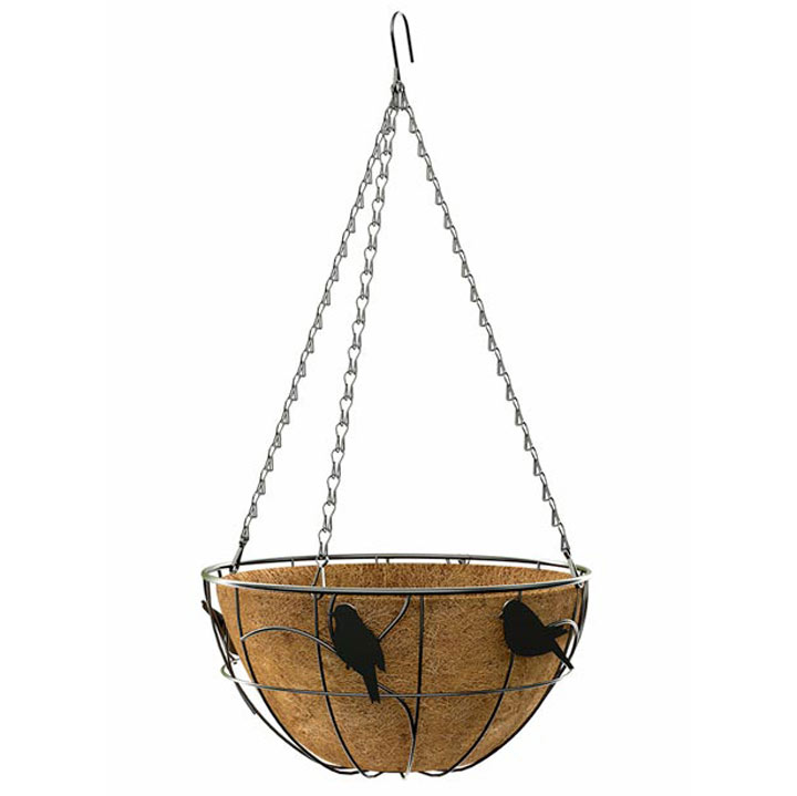 'Perching Bird' - Hanging Basket
