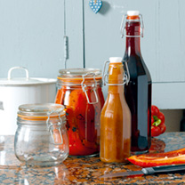 Glass Storage Jars and Bottles