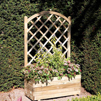 Rectangular Planter & Lattice