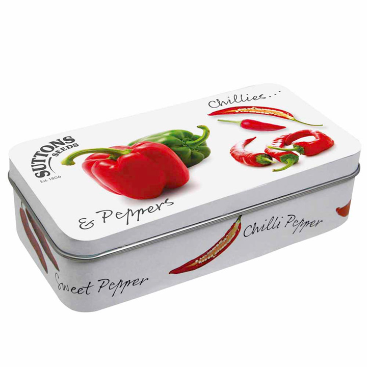 Collectable Seed Tin - Chillies & Peppers Design