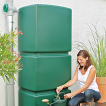 Rainwater Wall Tank with Filter Collection