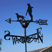 Weather Vane - Man & Dog
