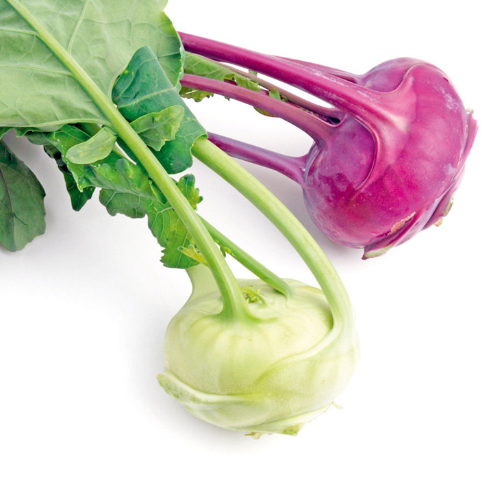 Kohlrabi Seeds - Purple and White Vienna Mix